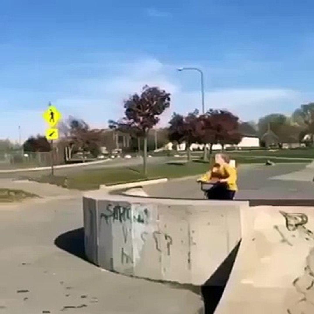 Little Kid Takes The Funniest Bike Crash Ever