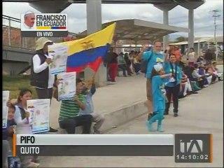 Así fue la llegada de papa Francisco al Ecuador