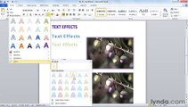 MS Word Using text effects and adding impact to a document