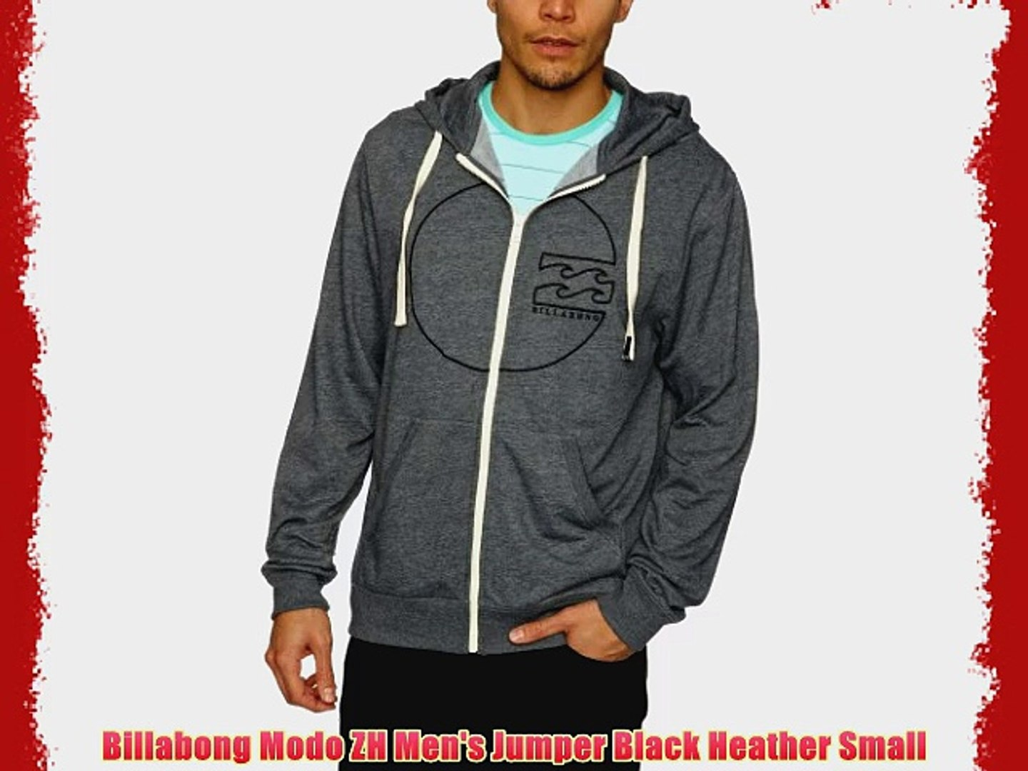 Heather Zh Billabong Jumper Modo Men's Black Small PZkXiu