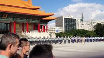 Military Performance at the Chiang Kai-Shek Memorial in Taiwan.