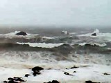 Dunbar Lifeboat in rough weather