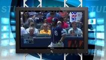 Padres Braves Fight   Jordan Baker Tackles Down Matt Kemp   Tackle Matt Kemp Hits Julio Teheran