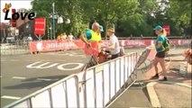 Dutch postman gest mad at Tour de France Road Closure