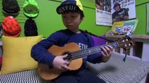 While my Guitar gently weeps(ukulele cover by 8year-old kid Sean Song)