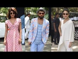 Priyanka Chopra, Anushka Sharma, Ranveer Singh at Dil Dhadakne Do Music Launch