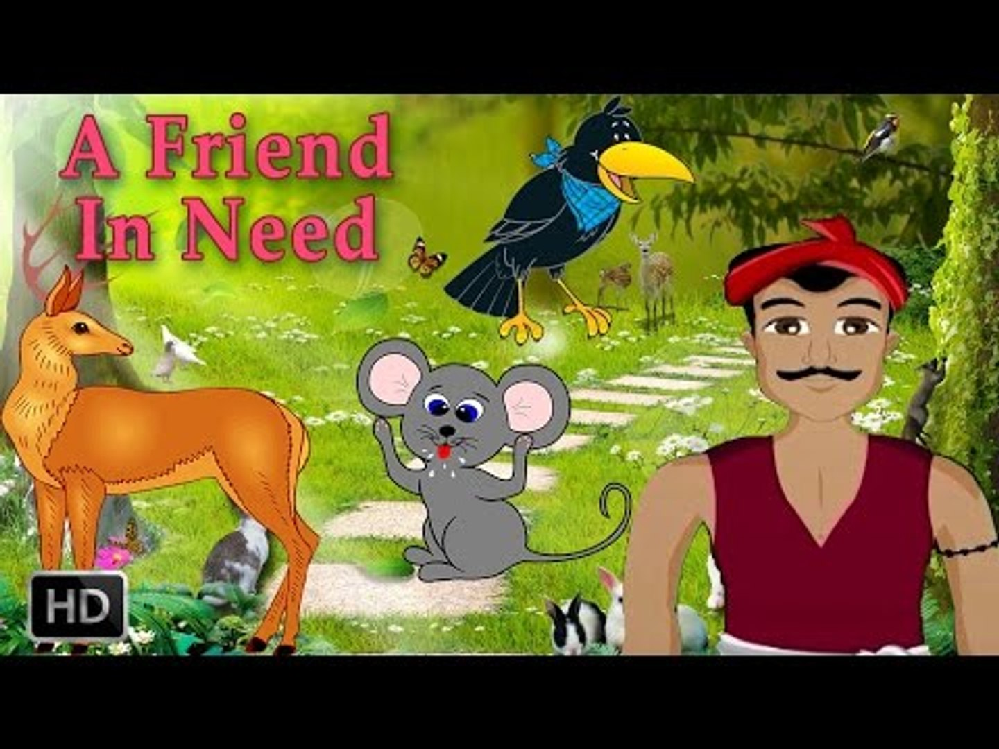Forest Stories For Children - Animal Stories - A Friend In Need - Short Moral Stories For Kids
