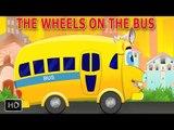 Wheels On The Bus Go Round & Round Nursery Rhyme with Lyrics - Cartoon Animation Rhymes & Baby Songs