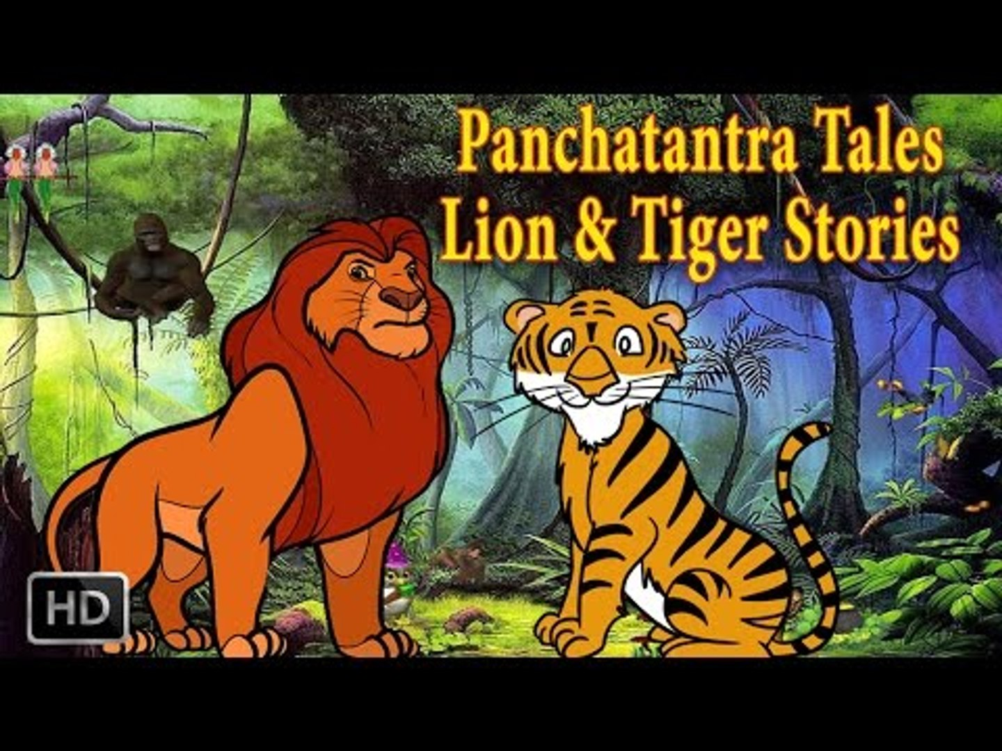 Panchatantra Tales - Lion And Tiger Stories - Animal Stories - Kids Moral  Stories