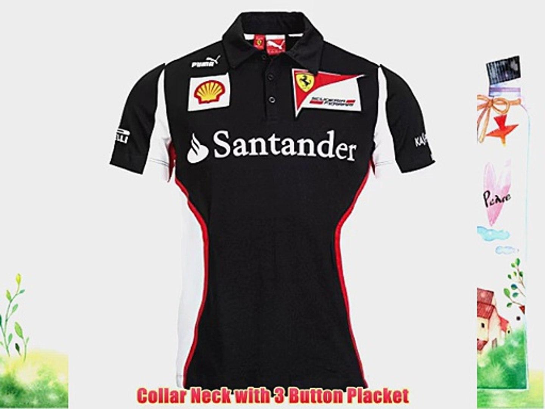 Puma Men's Scuderia Ferrari Team Polo T-Shirt S Black