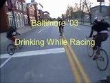 Drinking While Racing - Bike Messengers Race Baltimore