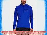Berghaus Men's Tech Tee Long Sleeve Zip Neck Base Layer - Intense Blue/Intense Blue X-Large