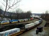 2 Westbound stackers at CP-MARY-Rockville Bridge