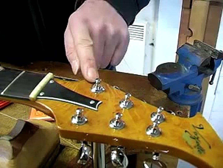 Changer cordes guitares électrique