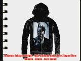 Batman Arkham Knight - Half Batman Half Joker Zipped Men Hoodie - Black - Size Small