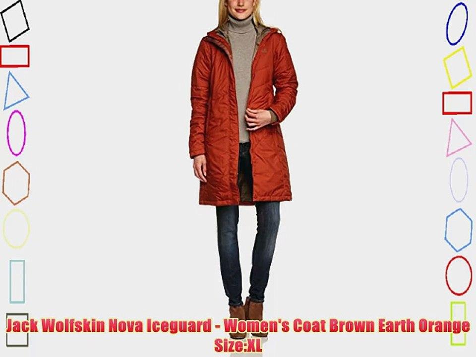 Jack Wolfskin W NOVA ICEGUARD COAT, White Sand Fast and