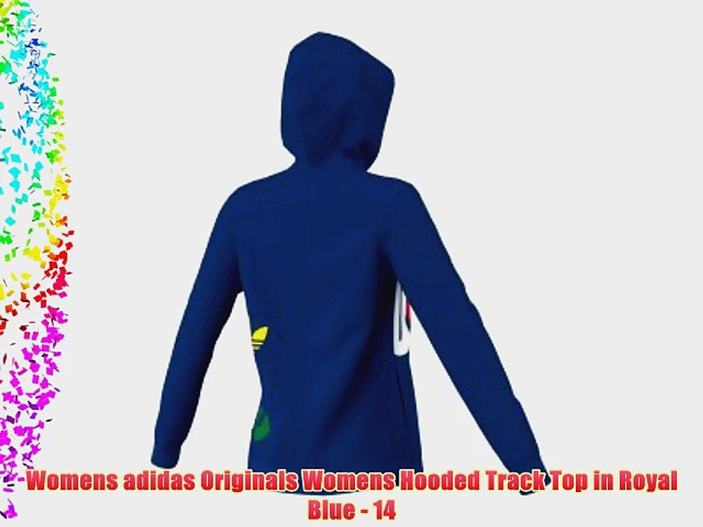 Womens adidas Originals Womens Hooded Track Top in Royal Blue 14