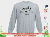 TTC Homies Crooks Lil Wayne Sweatshirts Medium 38-40 Chest Grey Marl Homies Black Print