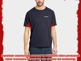 Berghaus Men's Tech Short Sleeve Crew Neck Base Layer - Carbon/Extreme Red X-Large