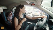 This mom forgot her baby in the car parked in the sun - so chocking preventive campaign