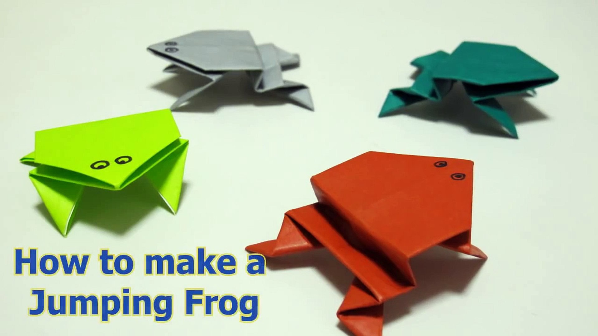 Origami jumping Frog - YouTube | 1080x1920