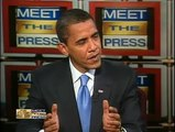 Barack Obama On Meet The Press, Discusses The Economy