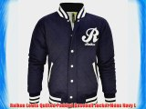 Raiken Lewis Quilted Padded Baseball Jacket Mens Navy L