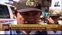 Ayacucho: familia murió aplastada por sacos de quinua