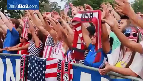 Soccer fans across the US celebrate…