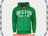 Crosshatch Mens Hooded Fur Lined Padded Sweatshirt Jacket Coat Medium Green - Slander Chunky
