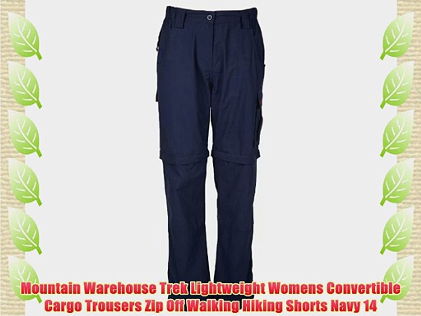 Mountain Warehouse Mens Lightweight Trek Trousers with Multiple Pockets