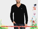 Lacoste Men's V-Neck Wool Jumper Black Medium (Brand Size: 50)