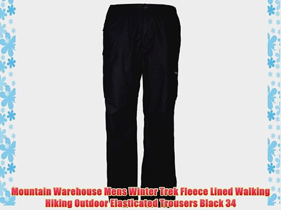 look for quality first cheapest Mountain Warehouse Mens Winter Trek Fleece Lined Walking Hiking Outdoor  Elasticated Trousers