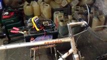 Vélo maison creation d électricité récuperation énergie gratuite 12v courant 220v EDF watt ampères