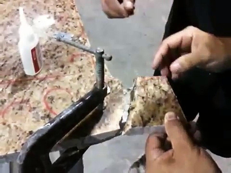 Best Granite / Marble / Quartz repair ever with Instantbond Super Glue  Adhesive