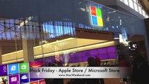 Black Friday Apple Store vs. Microsoft Store