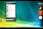 The UI demo of the next Yahoo Messenger! version for Vista