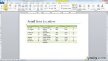 MS Word Adding and removing columns