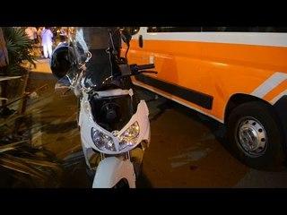 Bici contro scooter a Miramare di Rimini, ferite due donne, circolazione bloccata