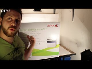 Xerox WorkCentre 6027: Unboxing