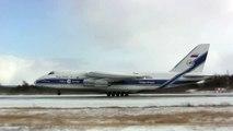Strong Crosswind Landing - Antonov 124