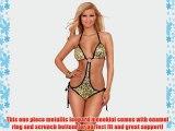 Adjustable String One Piece Monokini Bikini O Ring Ruched Swimwear Bathing Suit