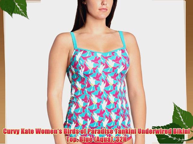 Curvy Kate Women's Birds of Paradise Tankini Underwired Bikini Top Blue (Aqua) 32H.  http://bit.ly/2m1pPEM