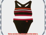 adidas Girls' Infinitex 3-Stripes 2 Piece Bikini - Black/Semi Solar Red/Clear Light Pink/Pink