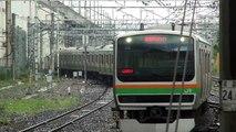 [JR宇都宮線] 宇都宮駅 E231系 湘南新宿ライン横須賀線直通 普通 逗子行き 到着
