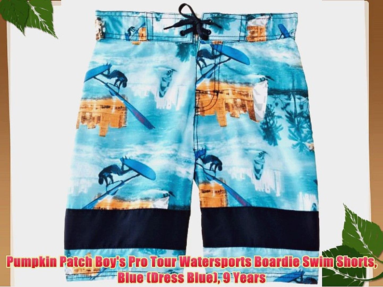 Pumpkin Patch Boy's Pro Tour Watersports Boardie Swim Shorts Blue (Dress Blue) 9 Years