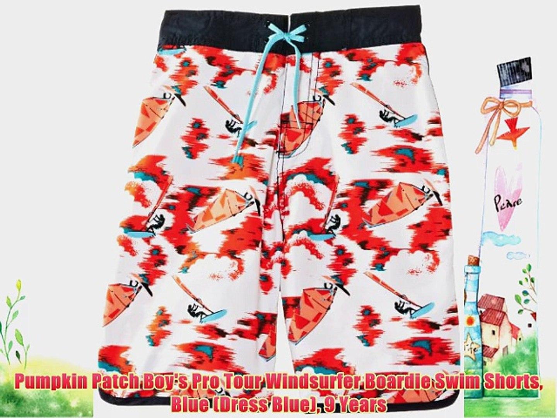 Pumpkin Patch Boy's Pro Tour Windsurfer Boardie Swim Shorts Blue (Dress Blue) 9 Years