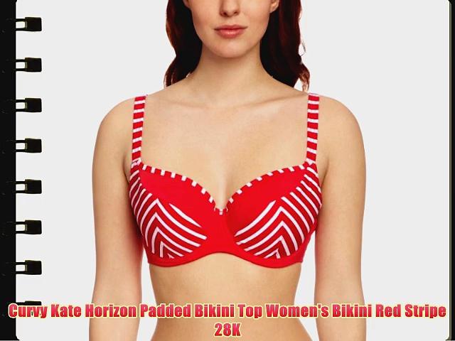 Curvy Kate Horizon Padded Bikini Top Women's Bikini Red Stripe 28K.  http://bit.ly/2m1pPEM