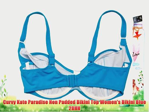 Curvy Kate Paradise Non Padded Bikini Top Women's Bikini Blue 28HH.  http://bit.ly/2m1pPEM