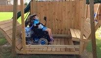 Un papa construit une balançoire adaptée pour sa fille handicapée